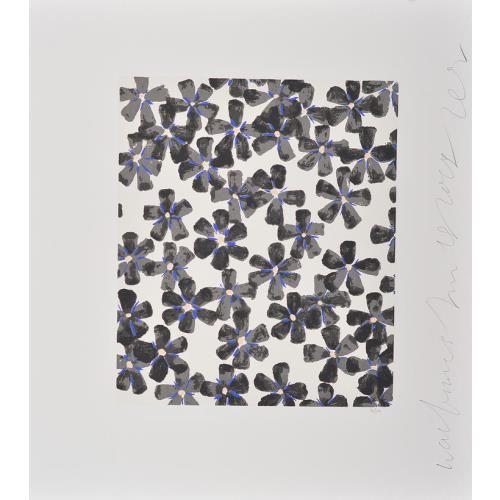 DONALD SULTAN-BLACK GERANIUM (WALL FLOWERS)-POPARTGALERIEFLUEGELRONCAKNUREMBERG
