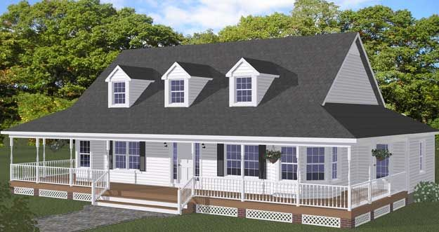 Attractive Free Home Plans   New Line Home Design Plan #413 01   3 Bedroom