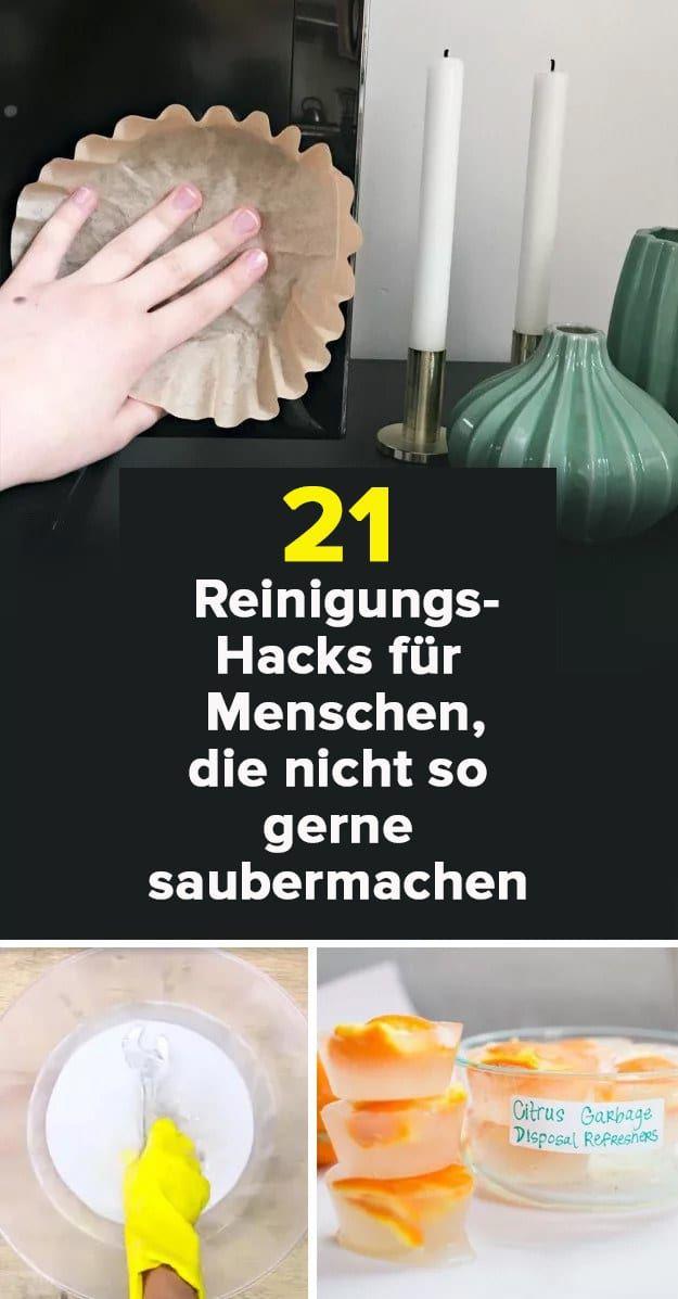 21 clevere reinigungs hacks f r menschen die nicht gern sauber machen haushaltstipps. Black Bedroom Furniture Sets. Home Design Ideas