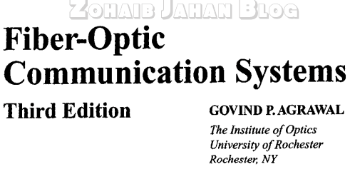 Free download PDF of Fiber Optic Communication Systems 3rd