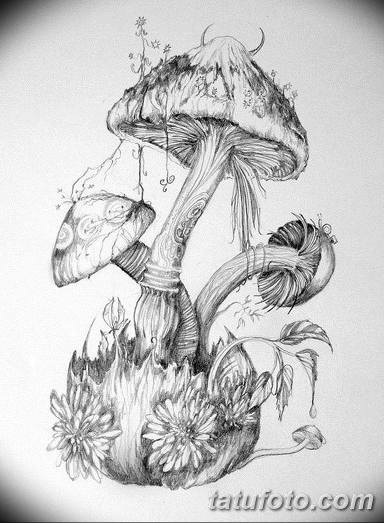 фото рисунка тату гриб 27.03.2019 №161 - tattoo mushroom ...