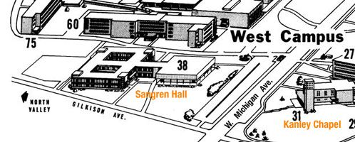 1964 Western Michigan University Campus Map - 1964 | My 1964 ...