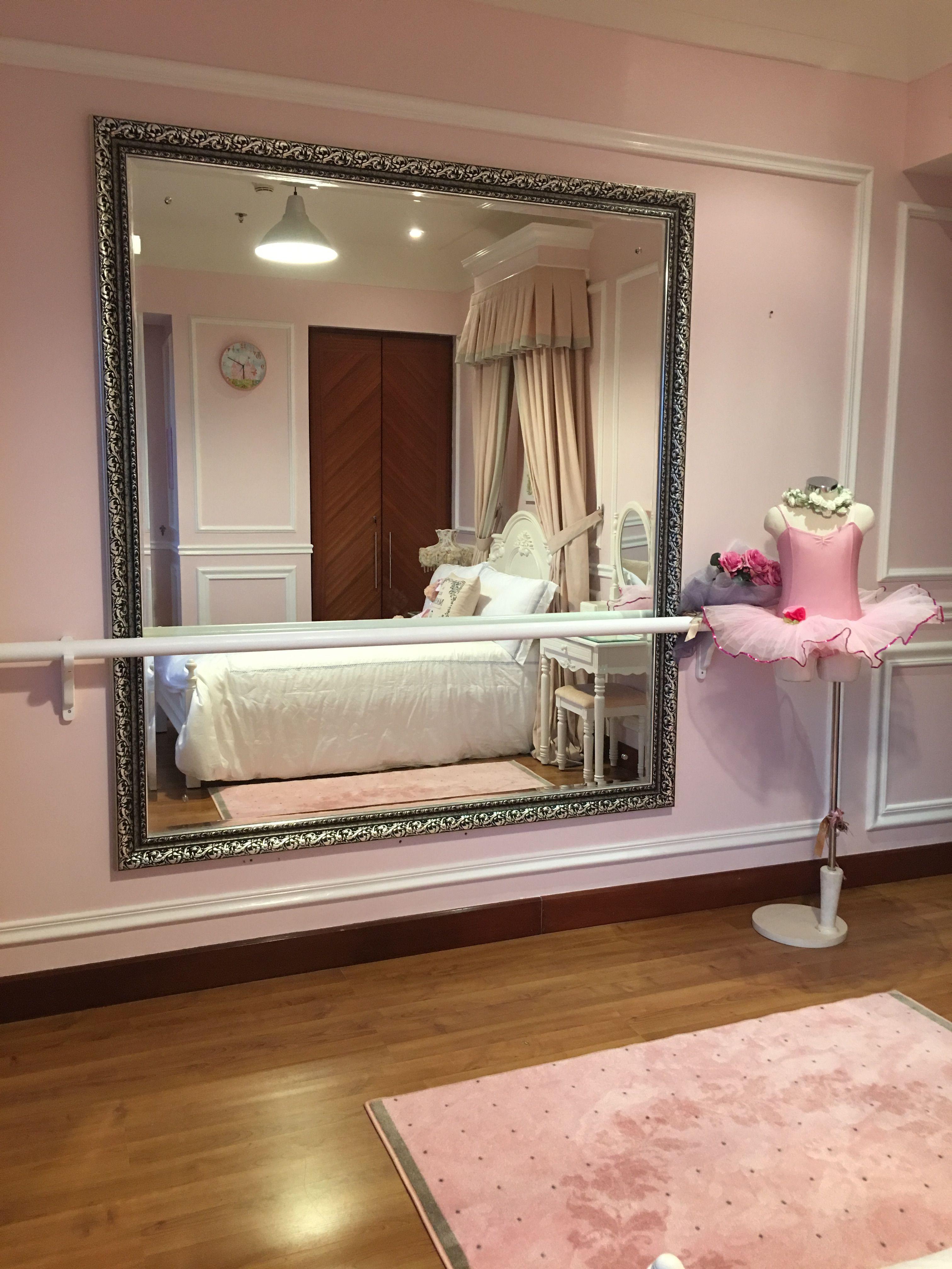 Ballerina Barre In My Little Girl S Bedroom Room Ideas Bedroom Ballerina Room Dance Bedroom