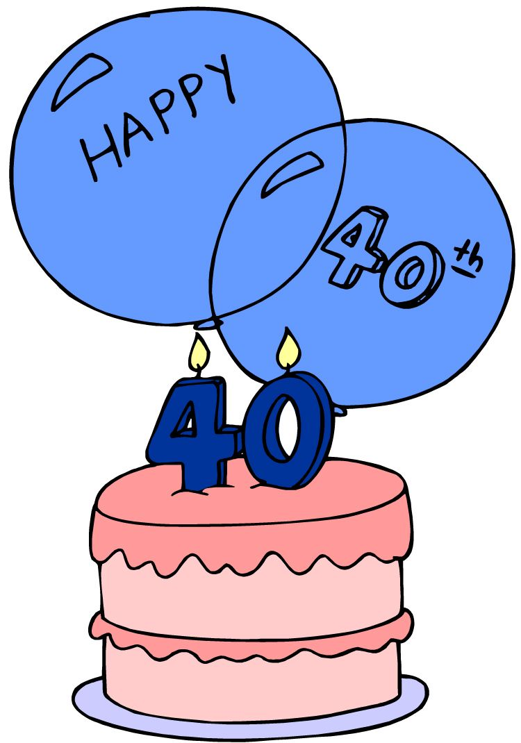 happy 40th birthday images for him clipart best clipart best [ 750 x 1070 Pixel ]