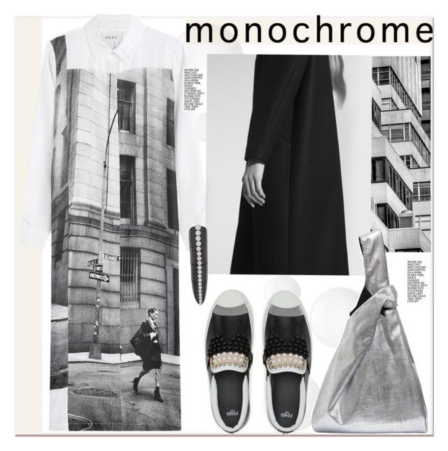 """""""Make It Monochrome"""" by paculi ❤ liked on Polyvore featuring DKNY, Non, Maison Margiela, Karapetyan and monochrome"""