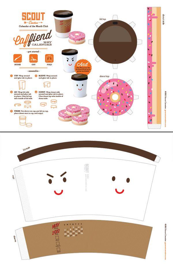 Food Papercraft Templates Minis Emballage Baste