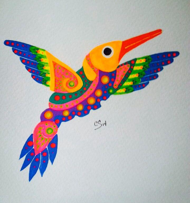 Colibri Huichol Colibri Dibujo Simbologia Maya Bordado Otomi