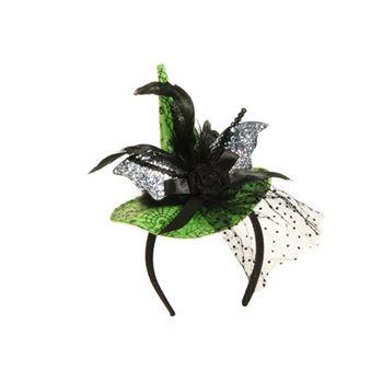 RAZ Imports Witch Hat with Bat Headband Halloween wreath making - bulk halloween decorations