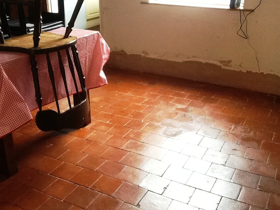 This Red Quarry Tiled Floor Was In The Dining Room Of A House In The