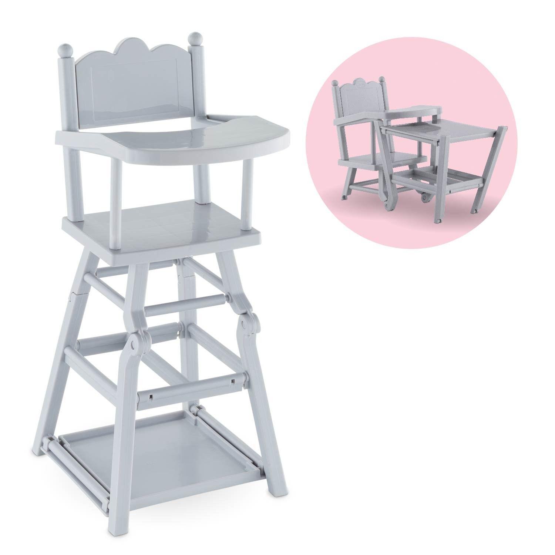Chaise haute poupon Corolle ® : chaise haute pour poupée 7 et 7