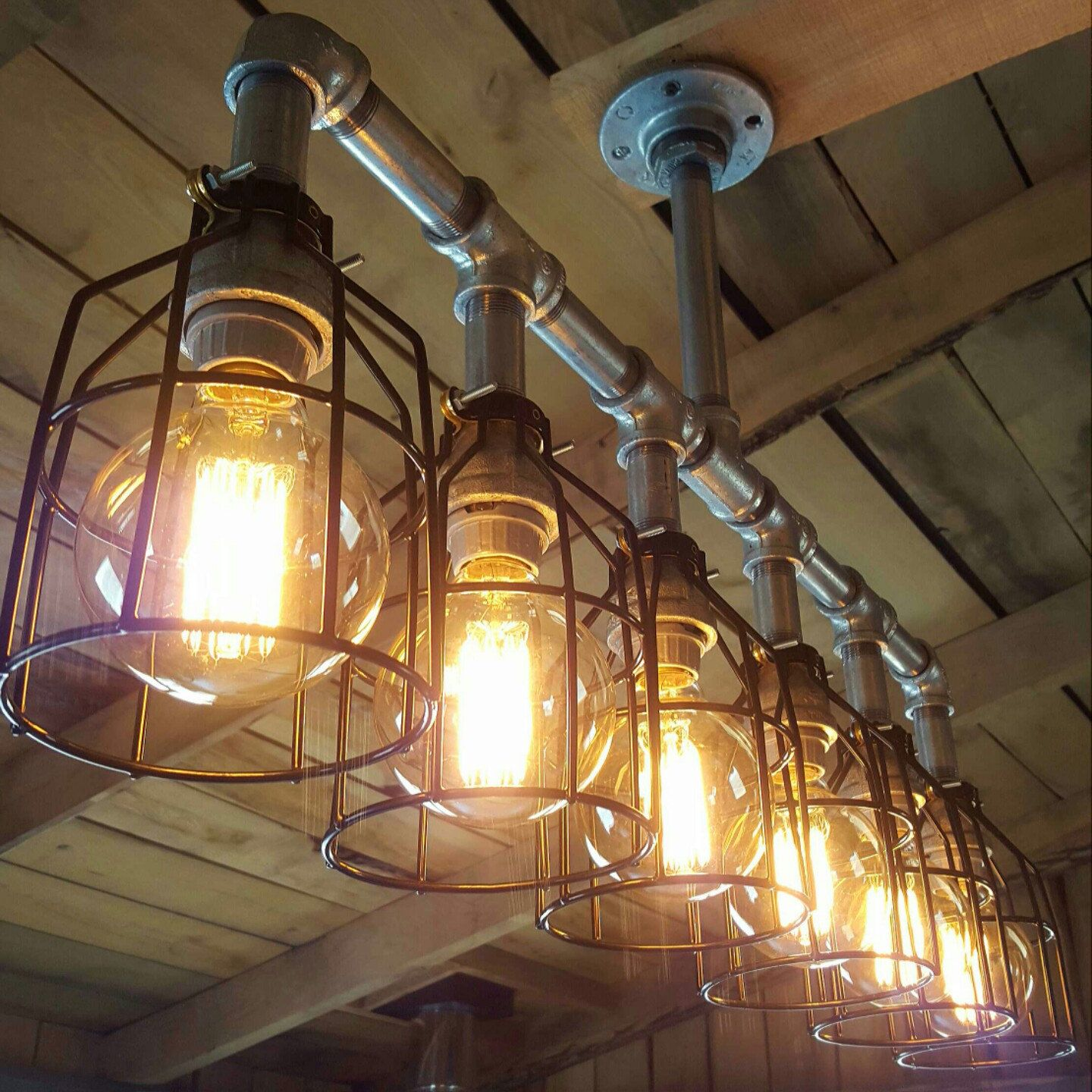 Rustic Industrial Lighting Chandelier- UL LISTED