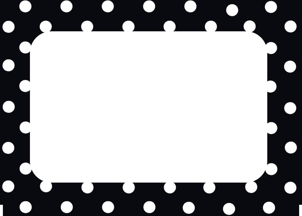 Black Polka Dots 2 Name Tags Labels Name Tags Scrapbook Frames Printable Name Tags