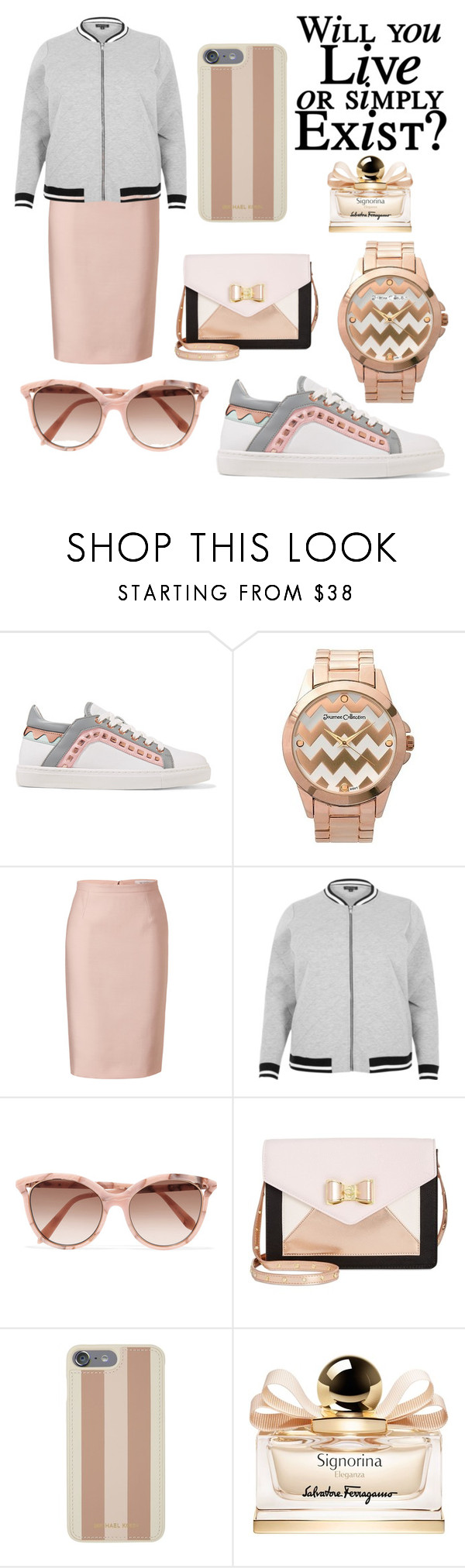 """""""Live And Exist"""" by karaleehope ❤ liked on Polyvore featuring Sophia Webster, Journee Collection, Valentino, River Island, Victoria Beckham, Betsey Johnson, Michael Kors and Salvatore Ferragamo"""