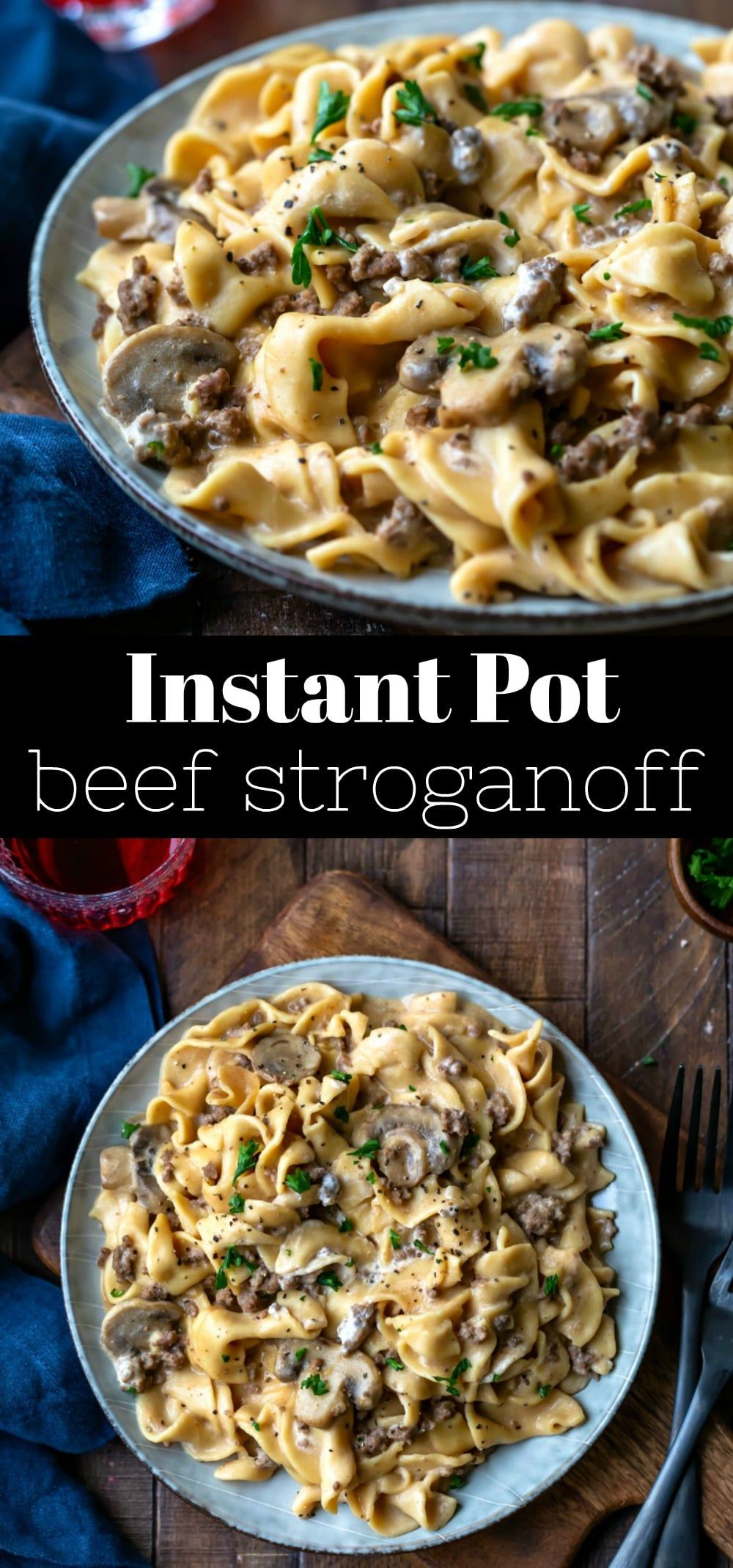 Instant Pot Beef Stroganoff I Heart Eating Recipe In 2020 Instant Pot Dinner Recipes Beef Stroganoff Instant Pot Recipe Beef Stroganoff Easy