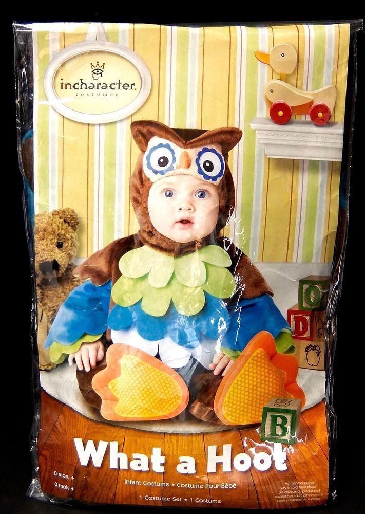 InCharacter Halloween Owl Costume Infant Bodysuit Booties Hood 6-12 12-18 Months…