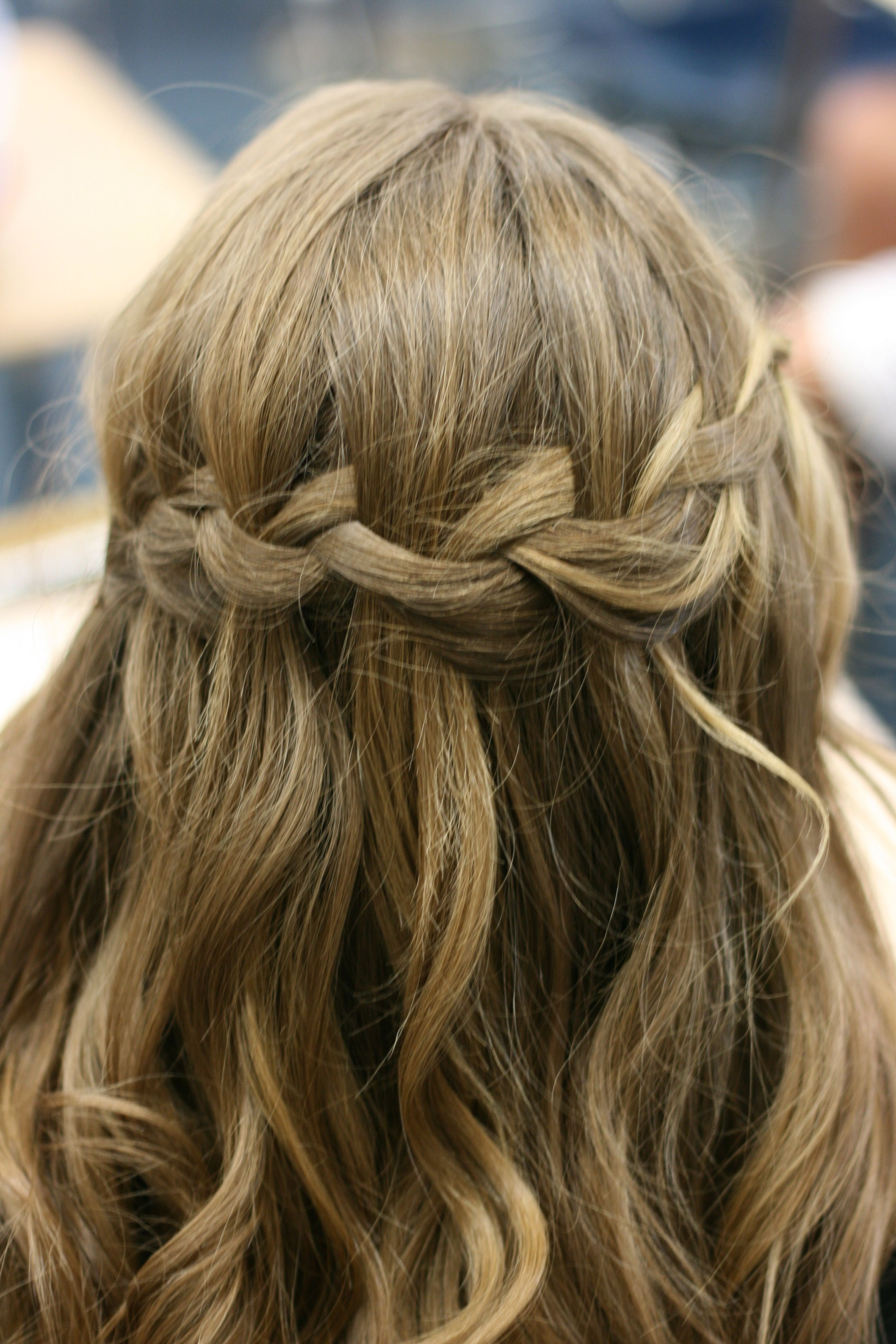 Simple waterfall braid hairs pinterest hair style