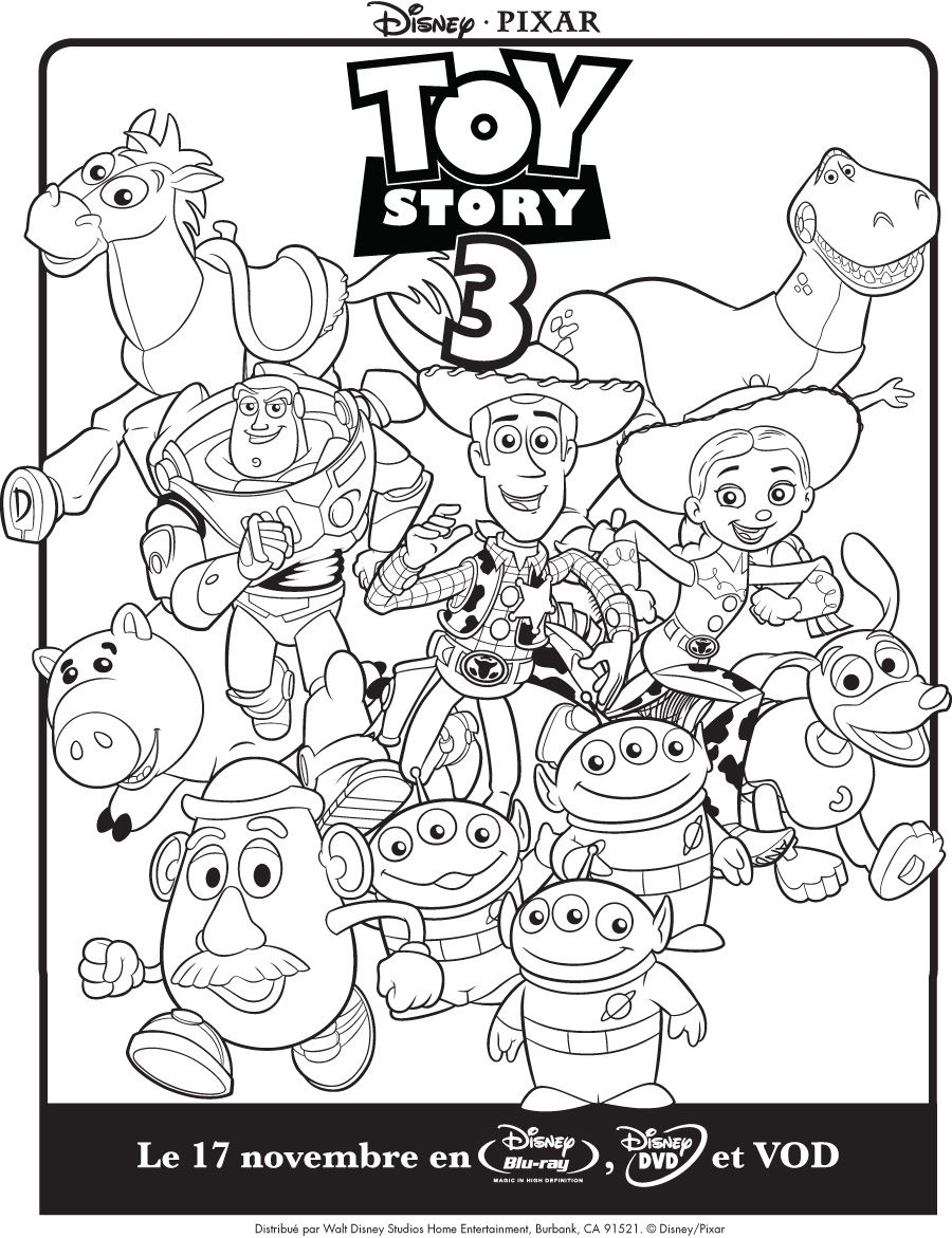 Un Autre Coloriage Disney Toy Story 3 Disney Junior Disney