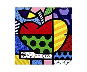 Romero Britto - Gravura apple