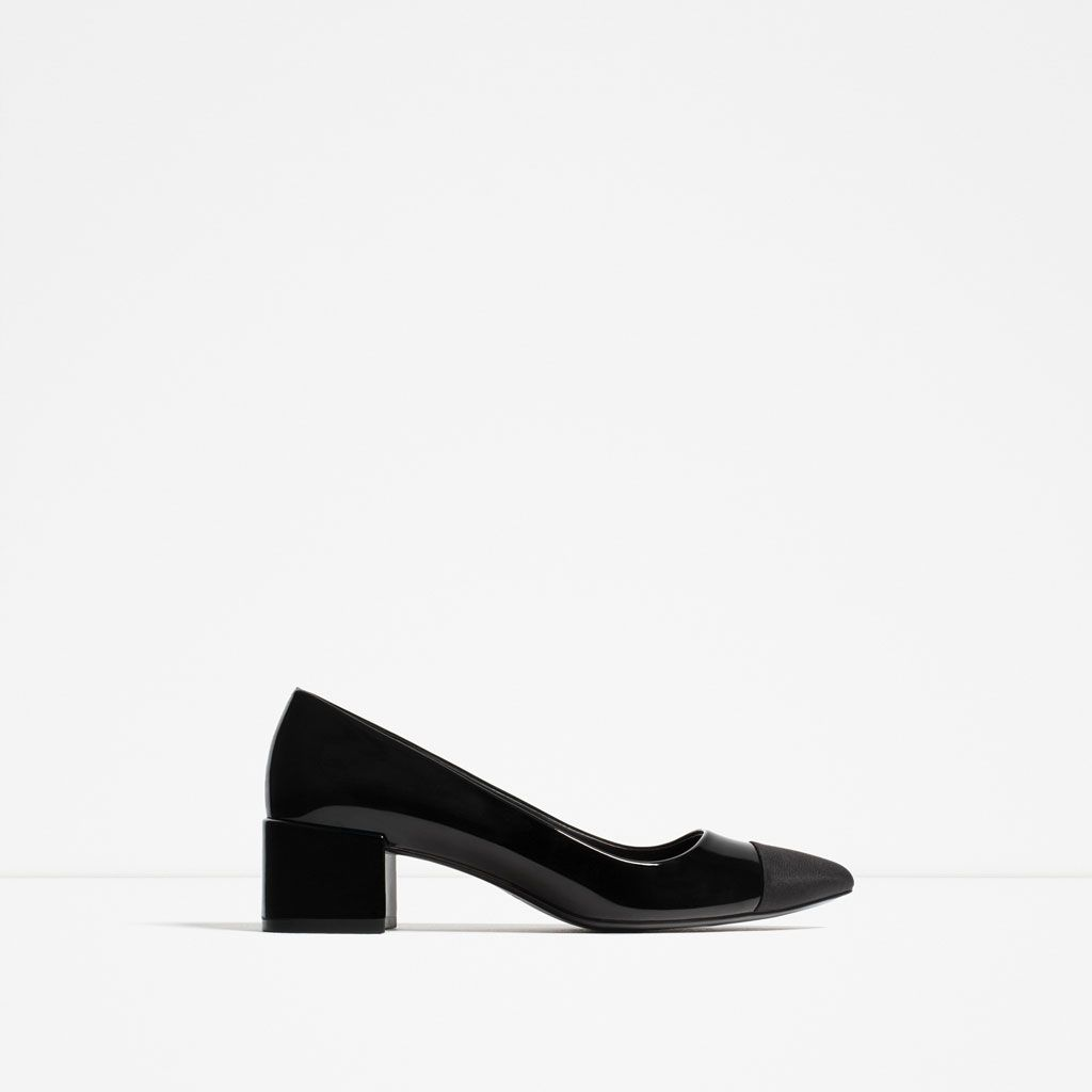 44ddb9fd6e39 MID-HEEL SHOES WITH CONTRASTING TOE CAP-SHOES-WOMAN-COLLECTION AW16 ...