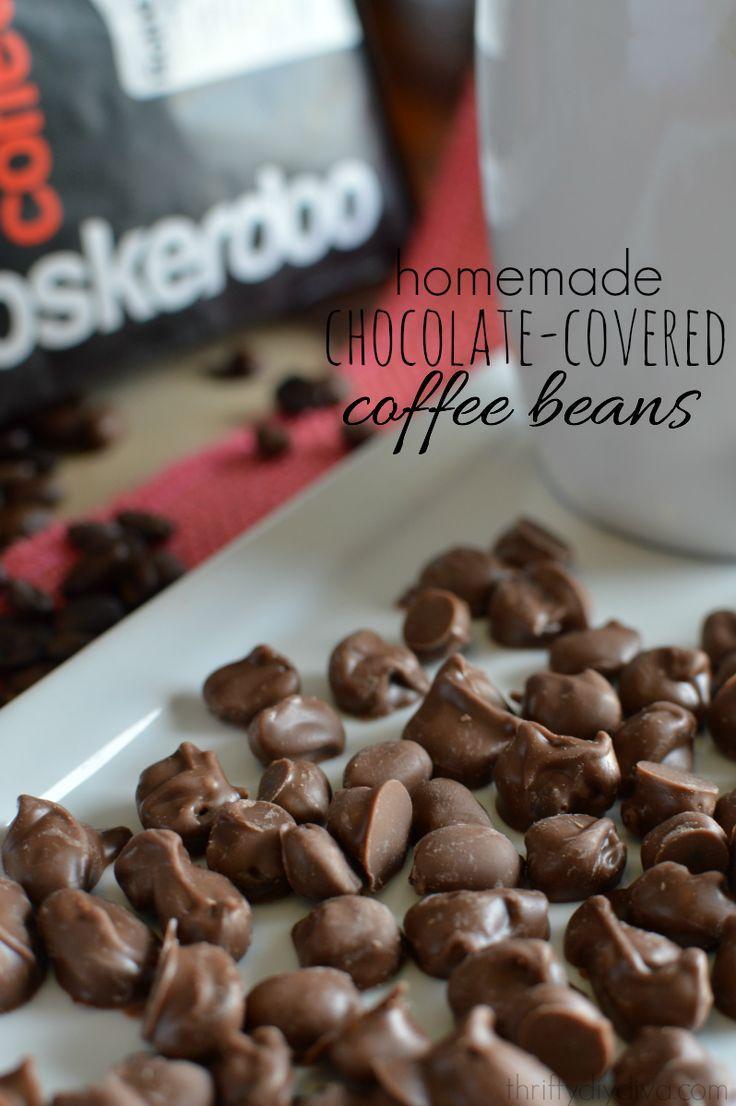 Homemade Chocolate Covered Coffee Espresso Beans