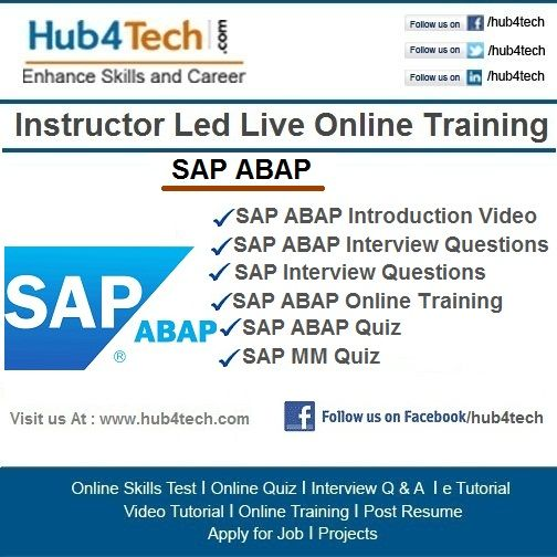 Pin by h4 ExamMATE on SAP ABAP Online Training | Pinterest