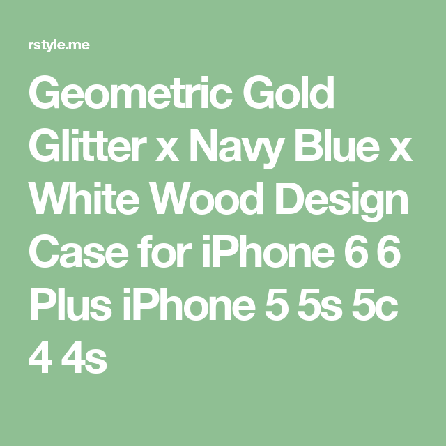 Geometric Gold Glitter x Navy Blue x White Wood Design Case for iPhone 6 6 Plus iPhone 5 5s 5c 4 4s
