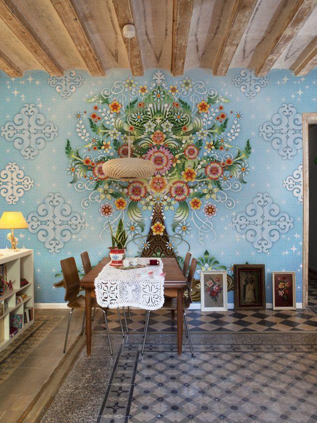 Merveilleux Papier Peint Design Artistique Aux Nuances Nostalgiques Du Passé | Idées  Déco | Tapeten, Schöne Tapeten, Tapeten Wandbilder
