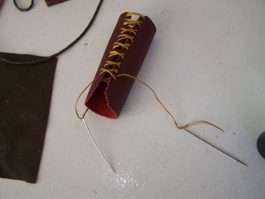 quick and easy leather handle wrap