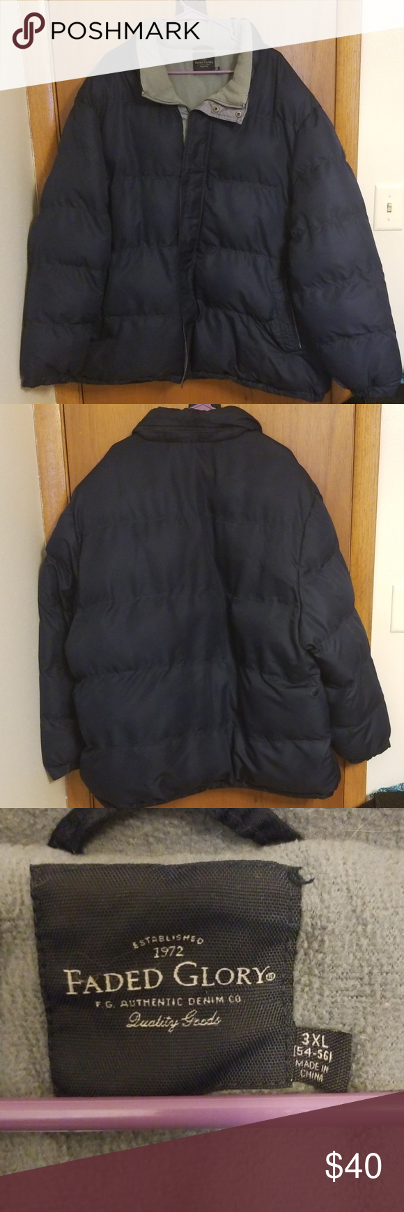Mens 3xl Puffer Jacket Faded Glory Mens 3xl Ski Puffer Jacket Dark Navy Color Insulated Zippered Lay Down With Hidden Hood 2 Fro Jackets Puffer Jackets Puffer [ 1740 x 580 Pixel ]
