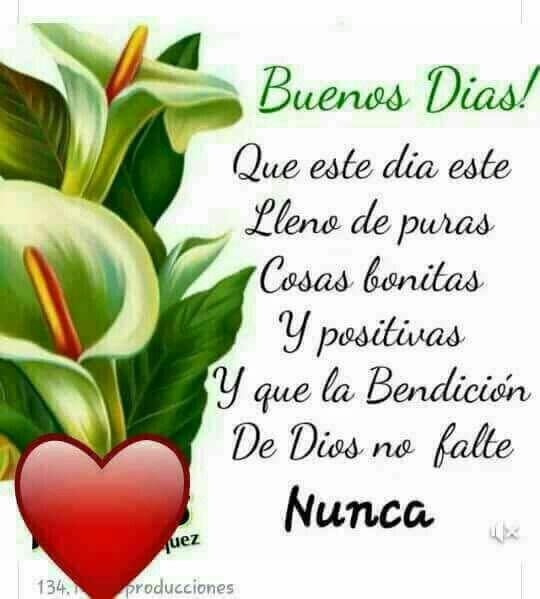 Buenos Dias Mi Amor Q Disfrutes Un Dia Maravilloso Y Lleno De