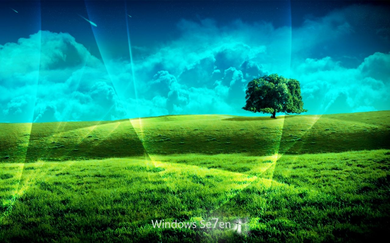 Windows 7 wallpapers HD win 7 desktop background grass1 Harley Davidson Wallpapers and ...