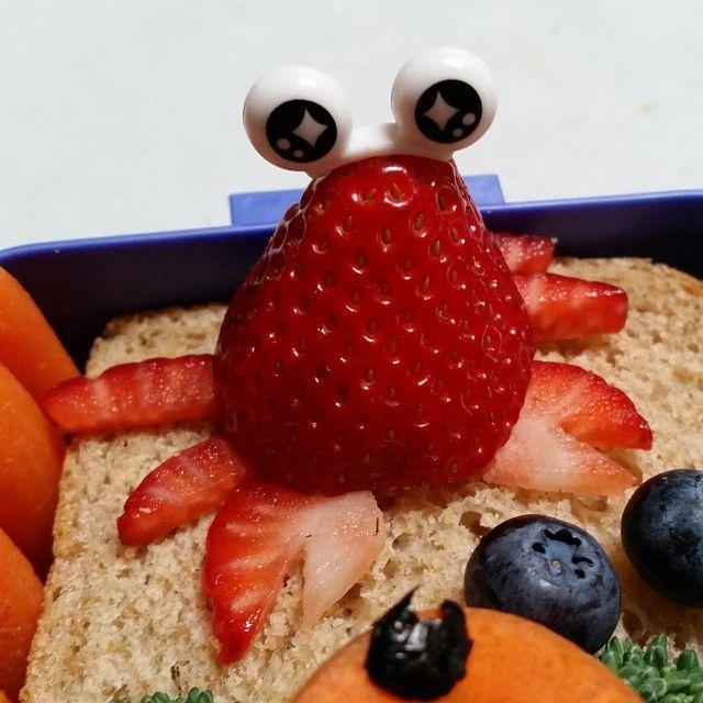 Strawberry crab #bento