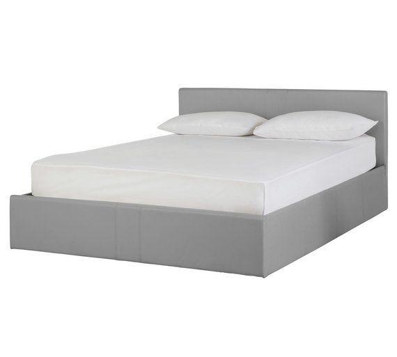 Buy Hygena Chapton Double Ottoman Bed Frame - Grey at Argosuk