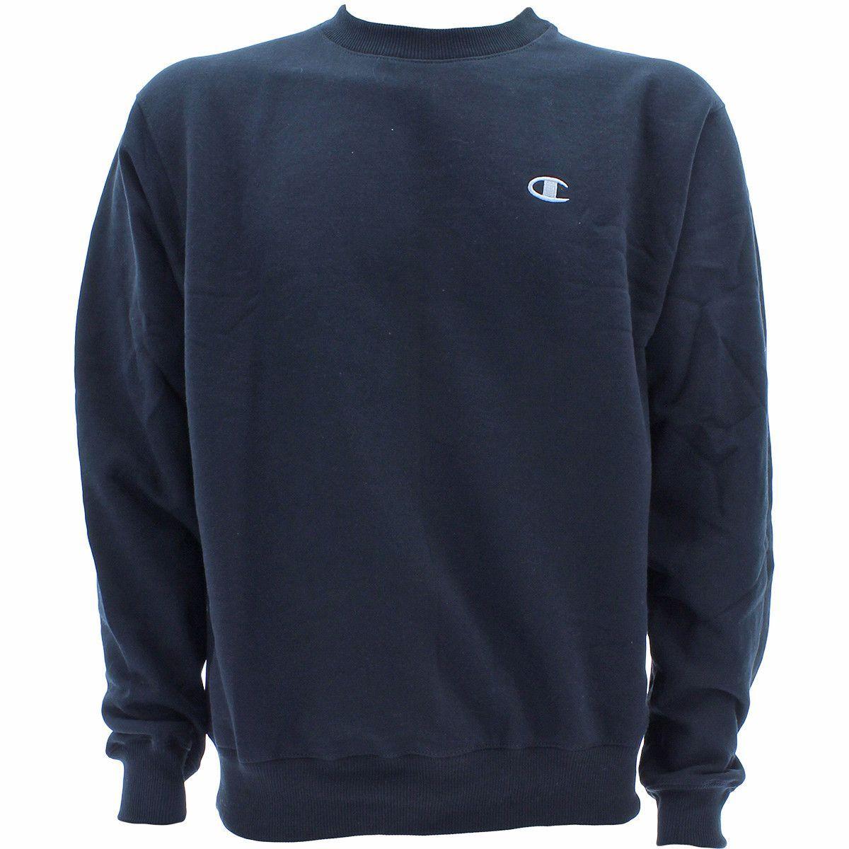 Champion Men S Eco Fleece Crewneck Sweatshirt Black Crew Neck Sweatshirt Sweatshirts Black Sweatshirts [ 1200 x 1200 Pixel ]