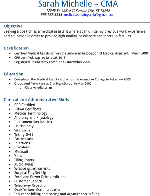 assistant resume sample for excel pdf and word certified medical ...