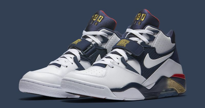 Nike Air Force 180 Mid Charles Barkley WhiteWhite Midnight Navy Metallic Gold For Sale