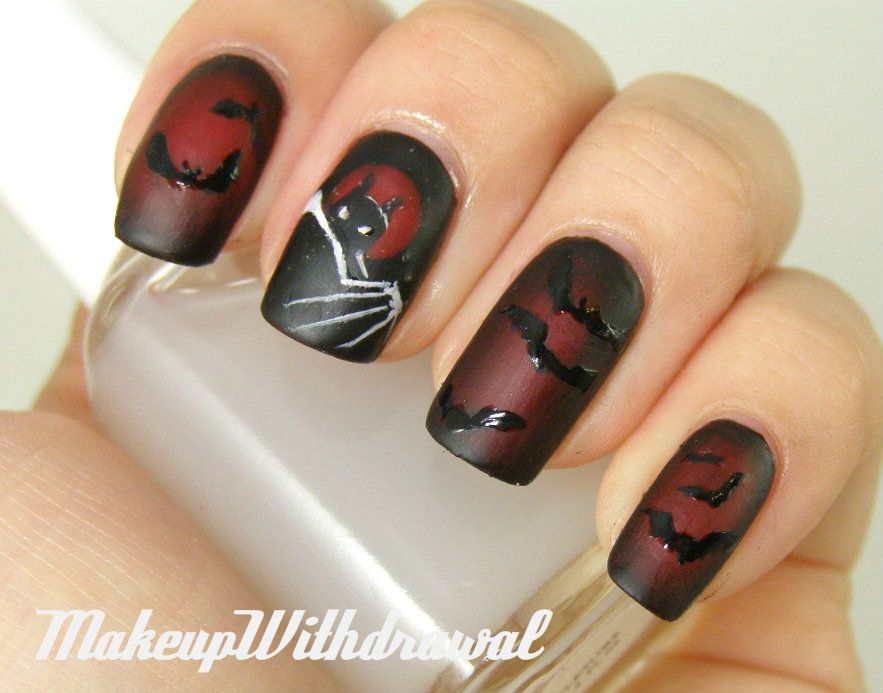 Batman nails from Makeup Withdrawal - Makeup Withdrawal: The Dark Knight Rises....This Is AWESOME