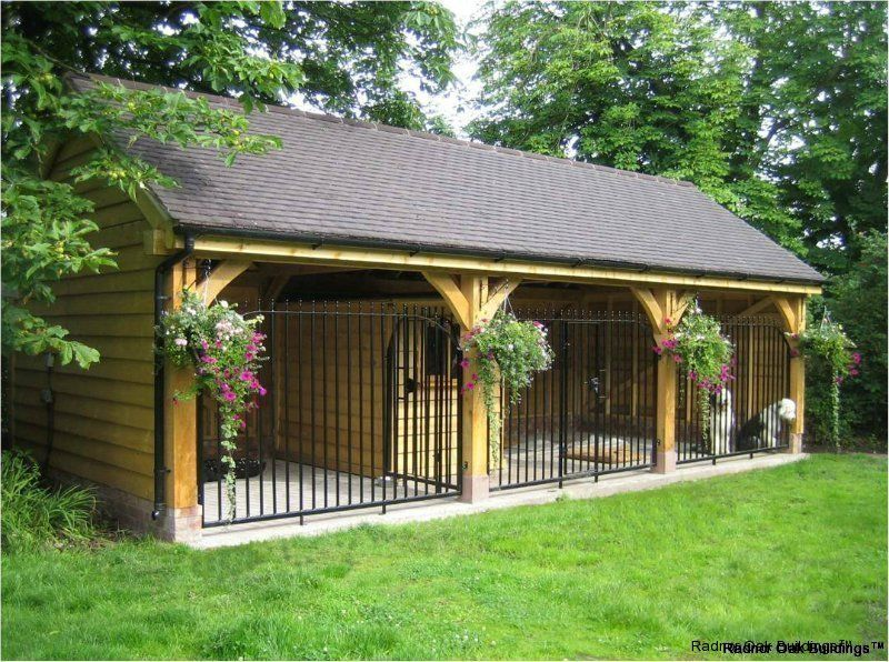 Dog kennel designs and drawings oak framed garages for Dog kennel shed combo plans
