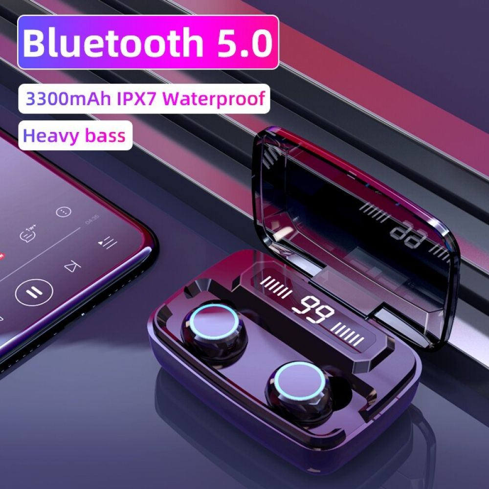 Original Wireless Headphones M11 Tws V22 Bluetooth 5 0 In Ear Earphone Noise Reduction Hifi Ipx7 Waterproof Headset For Sports In 2020 Wireless Headphones Earphone Bluetooth