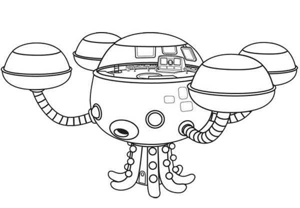 Octopod The Octonauts Octopus Submarine Coloring Page Download