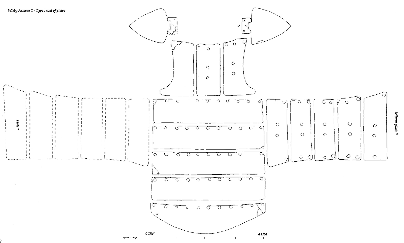 Wisby Coat Of Plates Pattern