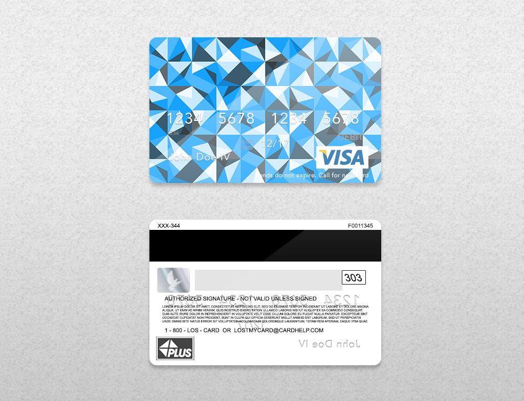 Bank Card Credit Card Layout Psd Template Front Back Smart Layer Card Number Smart Layer Expira Credit Card Design Free Credit Card Credit Card Images
