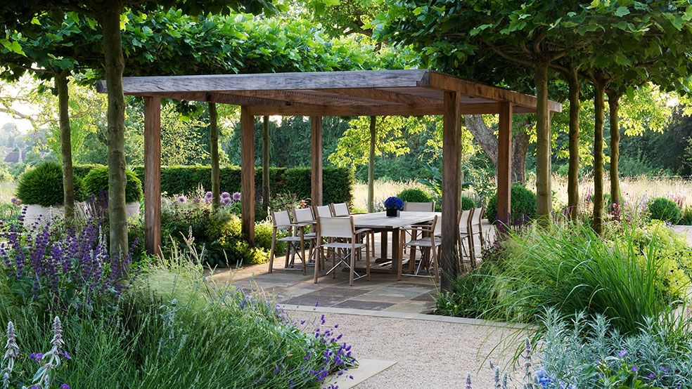 Beautifully Delineated Outdoor Entertainment Space Created By Marcus Barnet Garden Design Are You Making Backyard Garden Landscape Backyard Backyard Garden