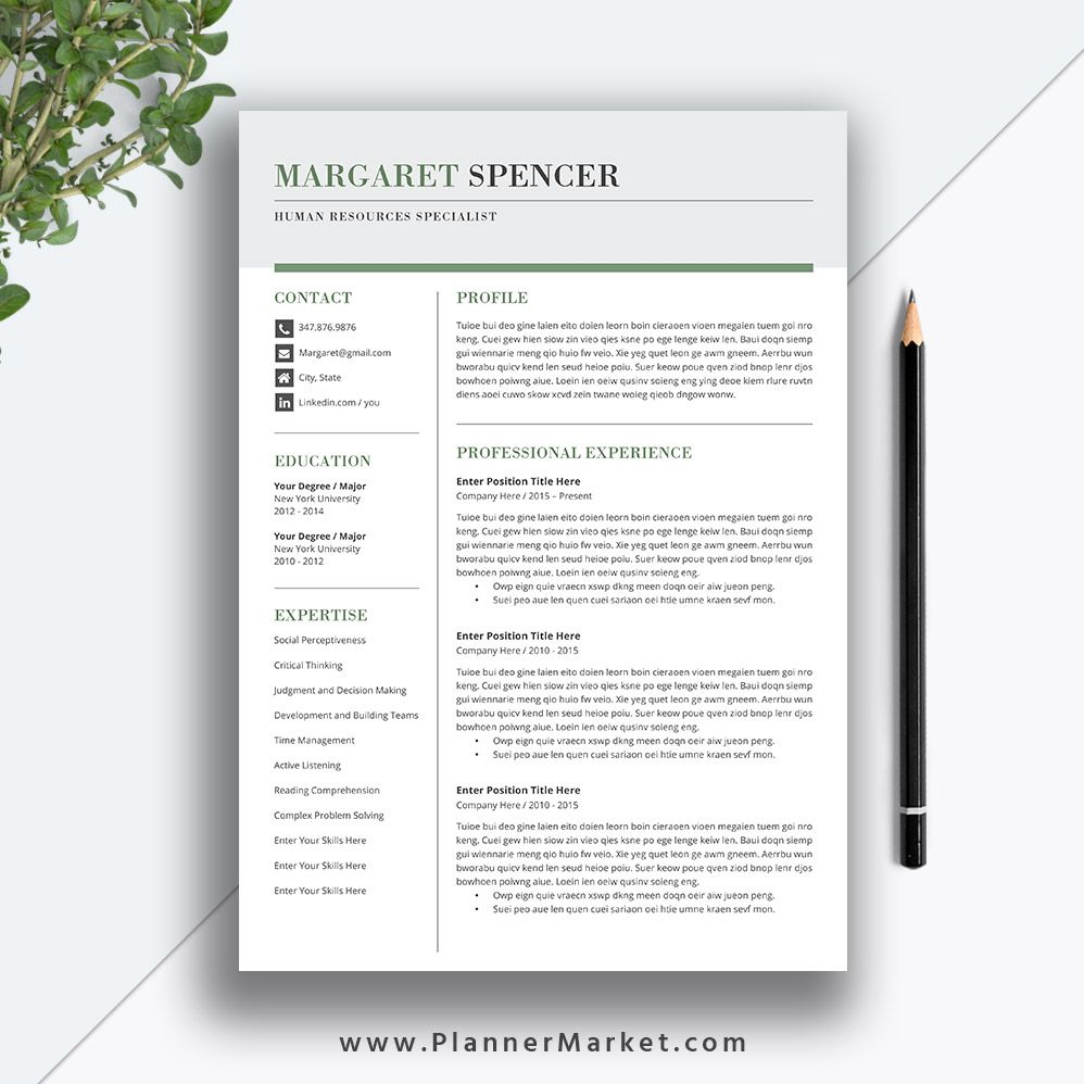3 Page Cv Template Resume Format Cv template, Resume