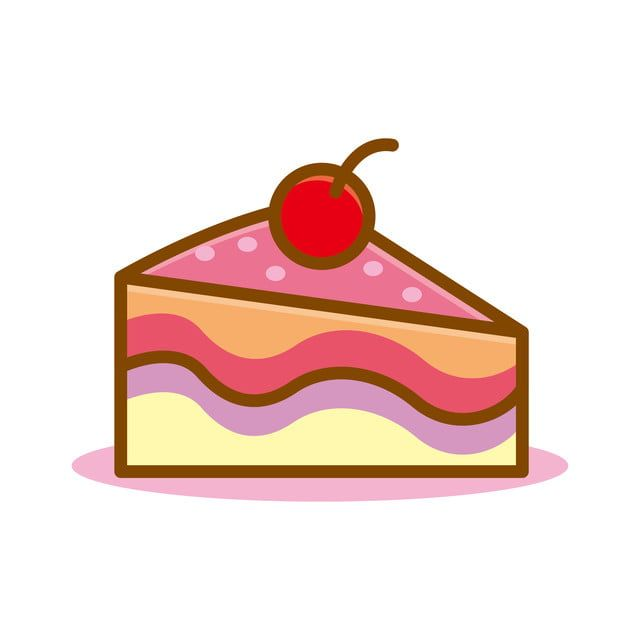 Cute Slice Of Cake Vector Illustration With Pink Color Isolated On White Background Cake Clipart Cake Vector Png And Vector With Transparent Background For F Cake Vector Fruit Vector Christmas Snowflakes