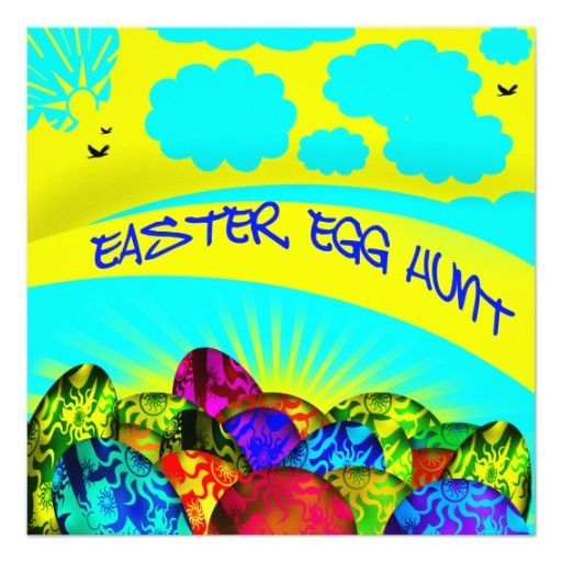 Glowing #Easter Eggs Easter Egg Hunt Invitation