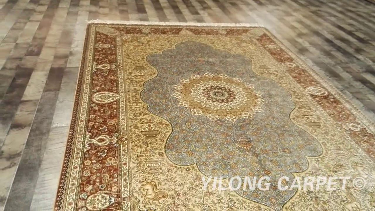 Chinese Silk Rugs For Sale Wall Hanging Silk Carpet Materials Silk