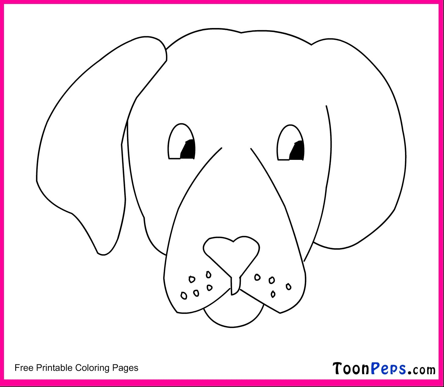 Cartoon Dog Face Coloring Pages To Print
