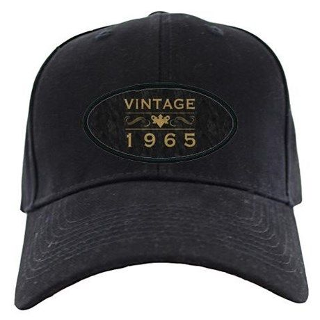 9004029e7f0 Vintage 1965 Baseball Hat. This black cap makes a great gift idea for men  and women celebrating their 50th birthday.