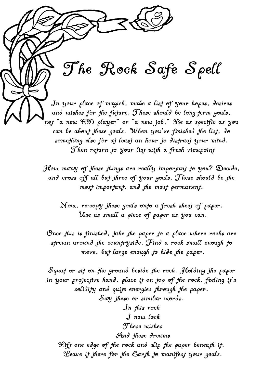 BoS2 - free Book of Shadows pages to save or print - Section